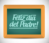 Happy fathers day in spanish message sign — Stock Photo