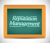 Reputation management message sign illustration — Stock Photo