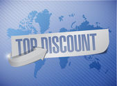 Top discount message sign illustration design — Stock Photo