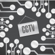 Cctv circuit board with sign. illustration design — Stock Photo