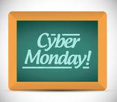 Cyber monday written message illustration design — Stock Photo