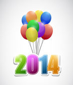 2014 balloons colorful card illustration design — Stock Photo