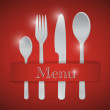 Food utensils menu illustration design — Stock Photo