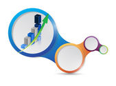 Business diagram layout illustration design — Stock Photo