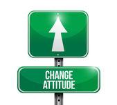 Change attitude road sign illustration design — Stock Photo