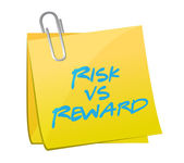 Risk vs reward post illustration design — Stock Photo