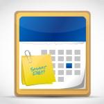 Smart diet post on a calendar illustration design — Stock Photo #36801009