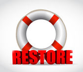 Sos restore sign illustration design — Stock Photo
