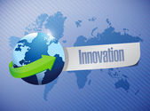 Globe innovation sign illustration design — Stock Photo