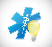 Medical light bulb illustration design — Stock Photo