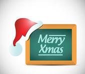 Merry christmas sign illustration design — Stock Photo