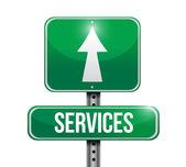 Services road sign illustration design — Stock Photo