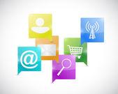 Internet network communication concept — Stock Photo
