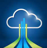 Cloud computing network connections illustration — Stock Photo