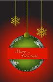 Merry christmas cart ornament illustration — Stock Photo