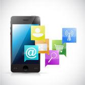 Phone internet network communication concept — Stock Photo