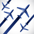 Airplanes traveling illustration design — Stock Photo