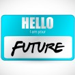 Hello im your future name tag illustration design — Stock Photo #37185867