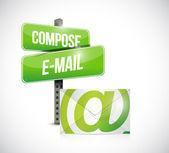 Compose mail concept illustration design — Stock Photo