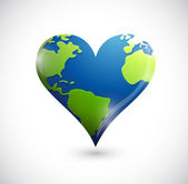 Global heart illustration design — Stock Photo