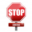 Stop sabotage road sign illustration design — Stock Photo