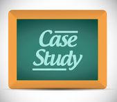 Case study written on a blackboard illustration — Stock Photo
