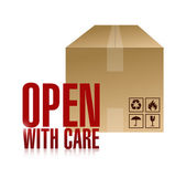 Open with care box illustration design — Stock Photo