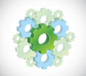 Gears illustration design — Stock Photo