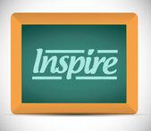 Inspirovat slovo napsané na tabuli. — Stock fotografie