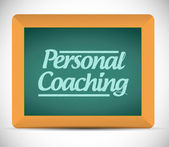 Personal coaching message written on a blackboard — Stock Photo