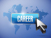 Career button and world map illustration — Stok fotoğraf
