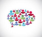 People message bubble illustration — Stock Photo