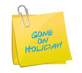 Gone on holiday post. illustration design — Stock Photo