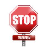 Stop terrorism sign illustration design — Stockfoto