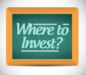 Where to invest message on a blackboard — Stock Photo