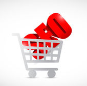 Seo shopping cart illustration design — Stock Photo