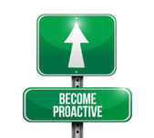 Become proactive road sign illustration design — Stock Photo