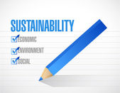 Устойчивость флажок списка концепция — Стоковое фото