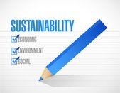 Hållbarhet markera listan koncept — Stockfoto