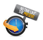 No time like the present. illustration design — Stock Photo