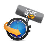 No time to lose concept illustration — Stock Photo