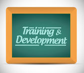 Training and development message illustration — Stock Photo
