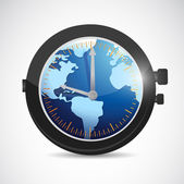 World and watch illustration design — Stock Photo