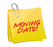 Moving date post illustration design — Photo
