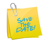 Save the date post it illustration design — Stock Photo
