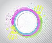 Ink circle paint. illustration design — Stock Photo