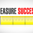 Stock Photo: Measure success illustration