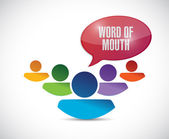 Word of mouth team message illustration — Stock Photo