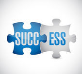 Success puzzle pieces illustration — Stock Photo