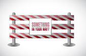 Something in your way barrier illustration — Stock Photo